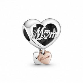Charm Cœur Thank You Mum (Merci Maman) PANDORA MOMENTS