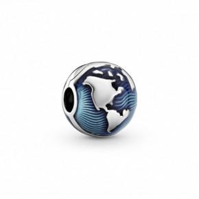 Charm Clip Globe Bleu PANDORA MOMENTS