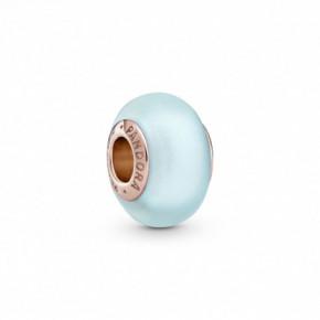 Charm Verre de Murano Bleu Mat PANDORA MOMENTS